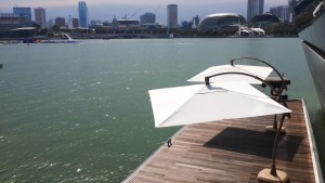 Alfresco Overhang Arch Parasol Square