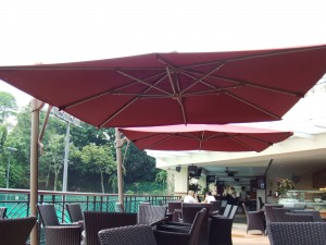 Alfresco Parasol Overhang Square 3mx3m