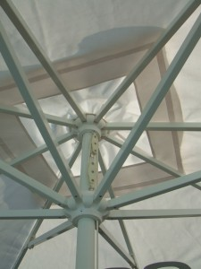 Alfresco Parasol Square 2.5mx2.5m-3.5m-x-3.5m